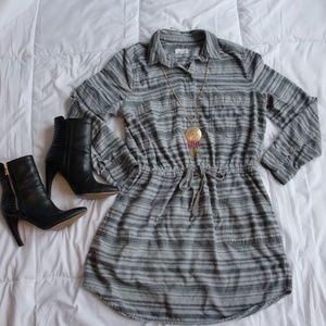 Lou & Grey Collared Shirt Dress